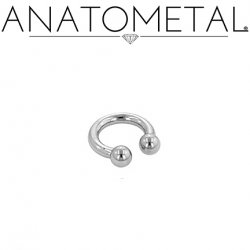 Anatometal Stainless Surgical Steel Circular Barbell 14 Gauge 14g