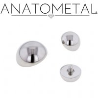 Anatometal Surgical Steel Threaded Dome End 00 Gauge 00g