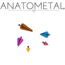 Anatometal Titanium Threaded Spikes 18g 16g