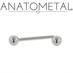 Anatometal Surgical Steel L-Bar Christina Female Genital Barbell 16, 14, 12 Gauge 16g, 14g, 12g