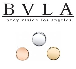 "BVLA 14kt & 18kt Gold ""Disc 6mm"" Disk Threaded End Top 10g 8g 6g Body Vision Los Angeles"