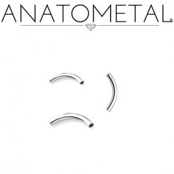 Anatometal Surgical Steel Curved Barbell (Shaft Only, No Ends) 16g 14g 12g