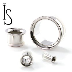 Industrial Strength Stainless Surgical Steel Single Flared Eyelet 8g to 2""