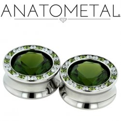 Anatometal Surgical Steel Super Gem Bling Eyelet 2g - 1""