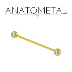 Anatometal Titanium Side-set Gem Ball Barbell 16 Gauge 16g