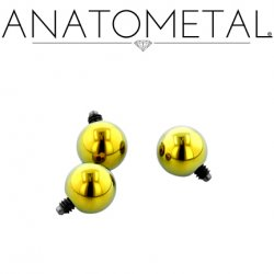 Anatometal Titanium Threaded Ball End 10 Gauge 10g