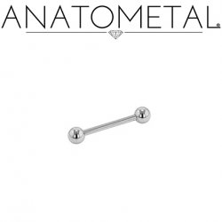 Anatometal Surgical Steel Straight Barbell 16 Gauge 16g