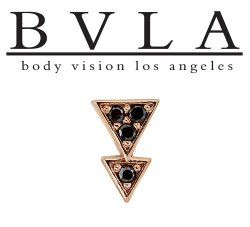 "BVLA 14kt & 18kt Gold ""Fate"" Threaded End 18g 16g 14g 12g Body Vision Los Angeles"
