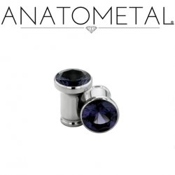 Anatometal Surgical Steel Single Flare Single Stone Eyelet 10g - 7/8""