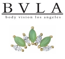 "BVLA 14kt & 18kt Gold ""Athena"" Threaded End 18g 16g 14g 12g Body Vision Los Angeles"