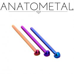 Anatometal Titanium 2mm Heart Nostril Screw Nose Ring Nail 20 Gauge 18 Gauge 20g 18g