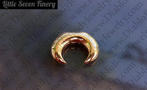 Little Seven Septum Pincher Crescent Ring 8 Gauge 6 Gauge 4 Gauge