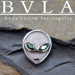 "BVLA 14kt Gold ""Alien"" Threadless End 18g 16g 14g ""Press-fit"""