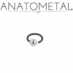 Anatometal Niobium Screw on Ball Ring 16 Gauge 16g