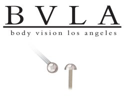 BVLA 14kt Gold Dome Nostril Screw Nose Ring Nail Stud Bone 20g 18g 16g Body Vision Los Angeles