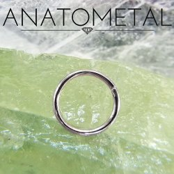 Anatometal 18kt Gold Seam Continuous Seamless Ring 14 Gauge 14g
