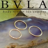BVLA 14kt Gold Seam Ring 20 Gauge 20g Body Vision Los Angeles