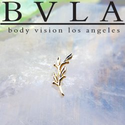 "BVLA 14kt & 18kt Gold ""Amity"" Threaded End 18g 16g 14g 12g Body Vision Los Angeles"