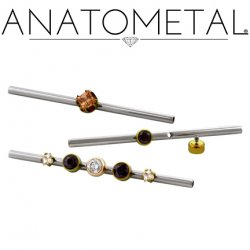 Anatometal Surgical Steel Industrial Barbell Side Drilled Holes (Shaft Only, No Ends) 14 Gauge 14g