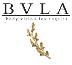 "BVLA 14kt & 18kt Gold ""Amity Large"" Threaded End 18g 16g 14g 12g Body Vision Los Angeles"