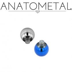 Anatometal Titanium Threaded Ball End 2 Gauge 2g