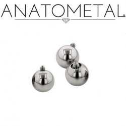 Anatometal Surgical Steel Threaded Ball End 10g 10 Gauge