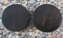 Desert Ironwood Solid Double Flare Plugs 1 3/8""