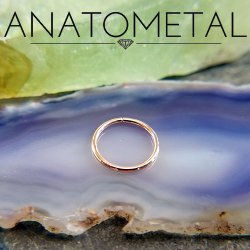 Anatometal 18kt Gold Seam Continuous Seamless Ring 18 Gauge 18g