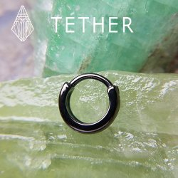 "Tether Jewelry Stainless Steel ""Rift"" Clicker 14 Gauge 14g"
