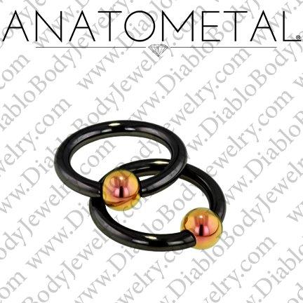 Anatometal Niobium Captive Bead Ring With Titanium Bead Cbr 6