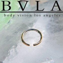 "BVLA 14kt & 18kt Gold ""Captive Ring Only"" without bead 20g Body Vision Los Angeles"