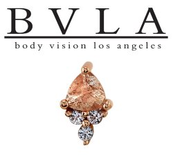 "BVLA 14kt & 18kt Gold ""Tau"" Threaded End 18g 16g 14g 12g Body Vision Los Angeles"