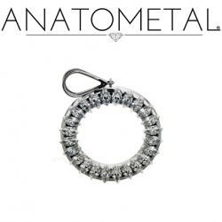 Anatometal Surgical Steel Marquise Gem Pendant