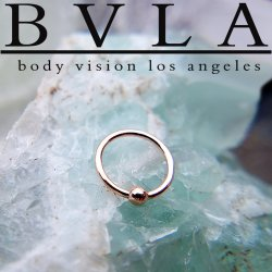 BVLA 14kt & 18kt Gold Fixed Bead Rings 18 gauge 18g Body Vision Los Angeles