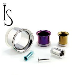 Industrial Strength Titanium Single Flared Eyelet 14g - 1""