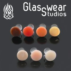 Glasswear Flesh Tone Colorfront Plugs Pair 12g to 000g
