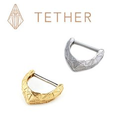 "Tether Jewelry Stainless Steel ""Lattice"" Nipple Clicker 12 Gauge 12g"