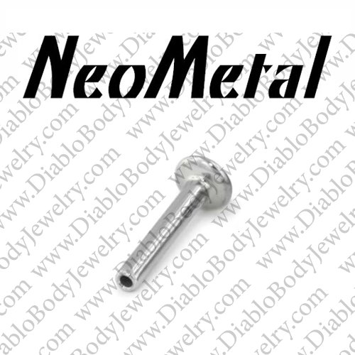 Neometal Threadless Titanium Flatback Nose Ring Stud Nostril Post