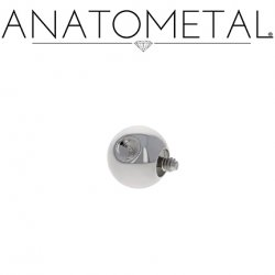 Anatometal Surgical Steel Threaded Slave Ball End 16 Gauge 16g