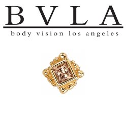 "BVLA 14kt & 18kt Gold ""Beaded Princess 2mm"" Threadless End 18g 16g 14g ""Press-fit"" Body Vision Los Angeles"