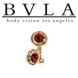 "BVLA 14kt Gold ""Madrid"" Navel Curved Barbell 14 Gauge 14g Body Vision Los Angeles"