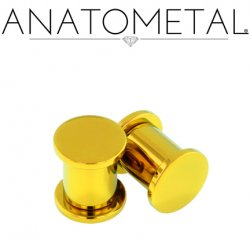Anatometal Titanium Solid Plug with Removable Disk 10g - 1/2""