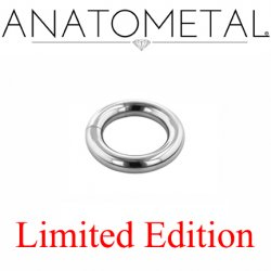 "Anatometal Surgical Steel 7/16"" Segment Ring 6 Gauge 6g Limited Edition"