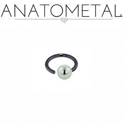 Anatometal Niobium Screw on Ball Ring 14 Gauge 14g