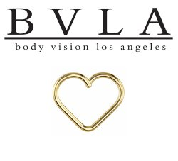 "BVLA 14kt & 18kt Gold ""Heartbreaker"" Seam Daith Ring 18 gauge 18g Body Vision Los Angeles"