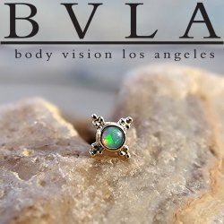 "BVLA 14kt & 18kt Gold ""Mini Kandy"" Threadless End 18g 16g 14g ""Press-fit"""