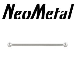 "18 Gauge 18g NeoMetal Threadless Titanium Ear Rod Industrial Complete Barbell ""Press-fit"""