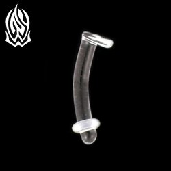 Glasswear Studios Quartz/Pyrex Glass Eyebrow Retainer 16g 14g 12g