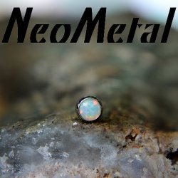 "16 Gauge 16g NeoMetal Threadless Implant Grade Titanium Cabochon Gem 2.0mm ""Press-fit"""