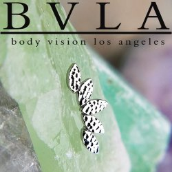 "BVLA 14kt & 18kt Gold ""Hammered Serenity"" Threaded End 18g 16g 14g 12g Body Vision Los Angeles"